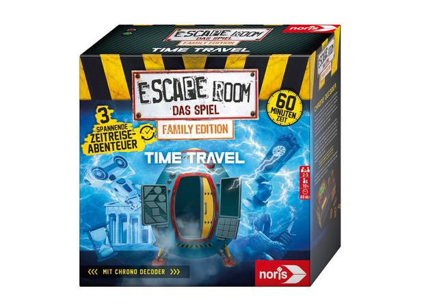 Spannung für zu Hause. Das versprechen die Escape Room-Spiele vom Noris-Verlag. London Crime Story und Escape Room – Time Travel erscheinen im August 2021. Foto: © Noris-Verlag