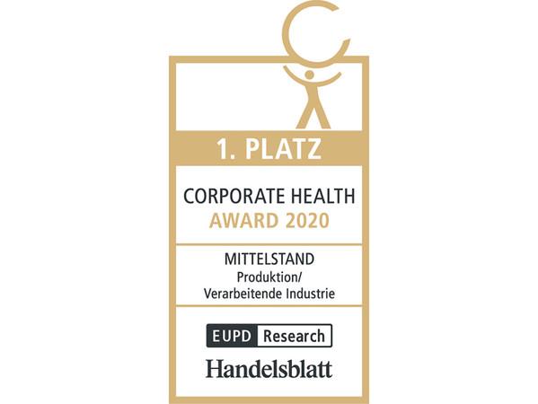 Hochkarätige Auszeichnung: Das Siegel für herausragendes Engagement im Gesundheitsmanagement. Foto: © Weinor