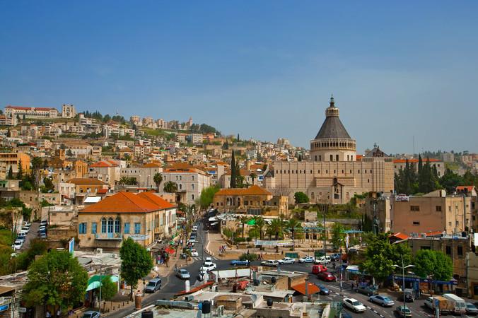 Blick auf die Verkündigungsbasilika in Nazareth. Foto: © Israel Photo Gallery