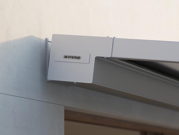 Die eckig designte Kassette fügt sich optisch harmonisch in das Umfeld ein. Foto: © Warema