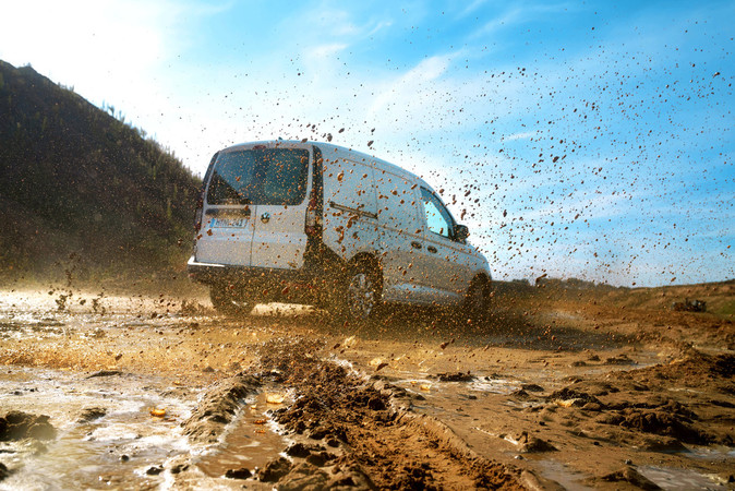 Erhältlich ist der Caddy 4Motion nur mit der Top-Dieselmotorisierung. Foto: © Volkswagen