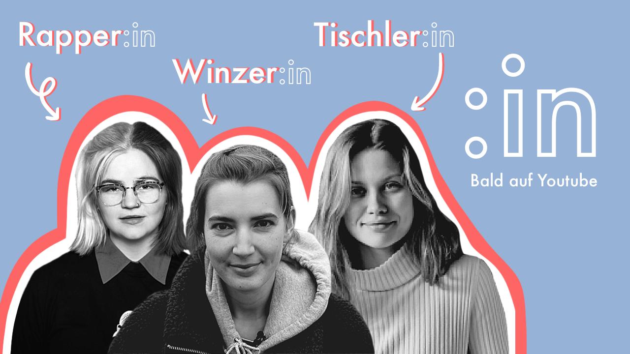 Liser, Pauline und Isabelle (v.l.n.r) sind die ersten drei Protagonistinnen der Webserie :in. Foto: © :in – die Webserie