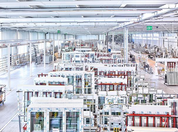 4B Kunststofffensterproduktion in Emmen bei Luzern. Foto: © 4B