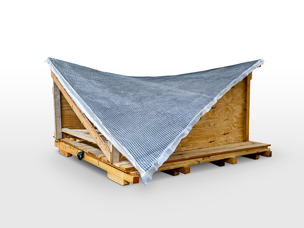 Aufgrund der dreidimensionalen Formgebung des Daches ist es erforderlich eine Schalung anzufertigen, damit die Carbonbewehrung erstellt werden kann. Foto: © solidian
