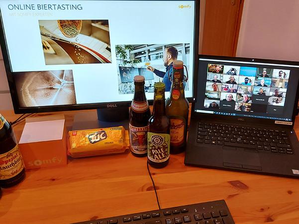 Das Bier-Tasting kam besonders gut an und sorgte für beste Stimmung. Foto: © Somfy