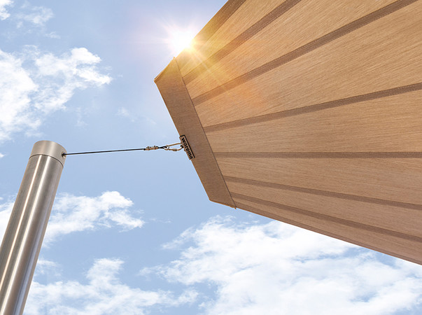 Verschattungsflächen von bis zu 56 Quadratmeter sind möglich. Foto: © Warema