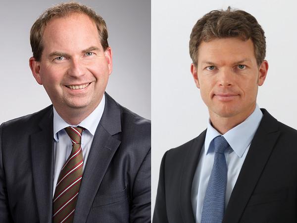 Harald Lüdtke (links) und Dr. Martin Deiß freuen sich über die Erweiterung des Prüfkataloges der RAL-Gütegemeinschaft um Produkte zur Flächenabdichtung. Foto: © RAL Gütegemeinschaft Gebäudeabdichtungssysteme e.V.