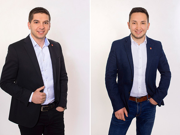 Alex Solodki (links) und Jahn Baildon. Foto: © Gutmann Bausysteme GmbH