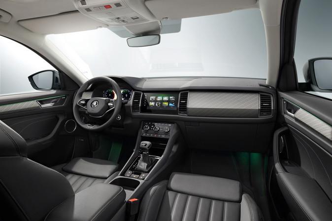Das Update hält den Innenraum beim größten SUV von Skoda modern. Foto: © Skoda