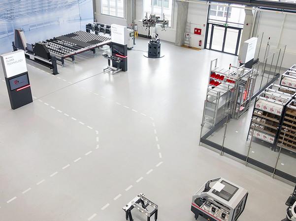 Die ganzjährige 365 Tage Grenzebach Welt vereint zukünftig alle Grenzebach-Technologien unter einem Dach am Hauptsitz der Grenzebach Gruppe in Hamlar. Foto: © Grenzebach