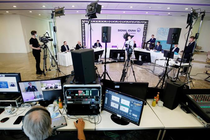 Die Bilanzpressekonferenz fand am 8. Juni 2021 virtuell statt. Foto: © SIGNAL IDUNA / Benito Barajas