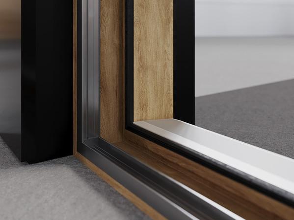 Die Lösung ist mit einer pflegeleichten HDF-Oberfläche ausgestattet und bietet über 220 mögliche Varianten an Farbgebung und Oberflächen. Foto: © Rehau
