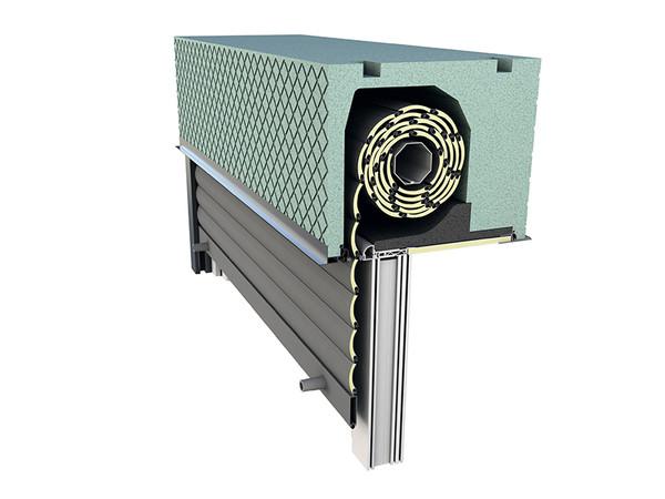 Durch passende Schalldämmleisten, die am Außenschenkel des Kastens angeordnet werden, sowie einem speziellen Schallschutzdeckel werden Schalldämmwerte von bis zu Rw = 48 dB (Prüfwert) und damit die Schallschutzklasse 5 erreicht. Foto: © Beck+Heun