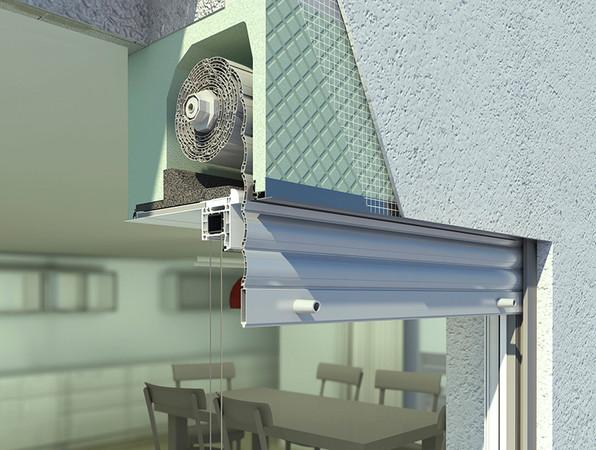 Die ergänzenden Schallschutzmaßnahmen haben keinen Einfluss auf die Kastengeometrie. Dadurch bleibt bei deutlich verbessertem Schalldämmwert die volle Funktionalität des gesamten Aufsatzkasten-Systems erhalten. Foto: © Beck+Heun