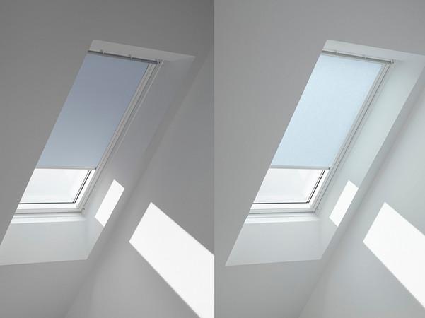 Die Farben der neuen Kollektion sind immer sowohl in verdunkelnder als auch transparenter Ausführung erhältlich. Foto: © Velux