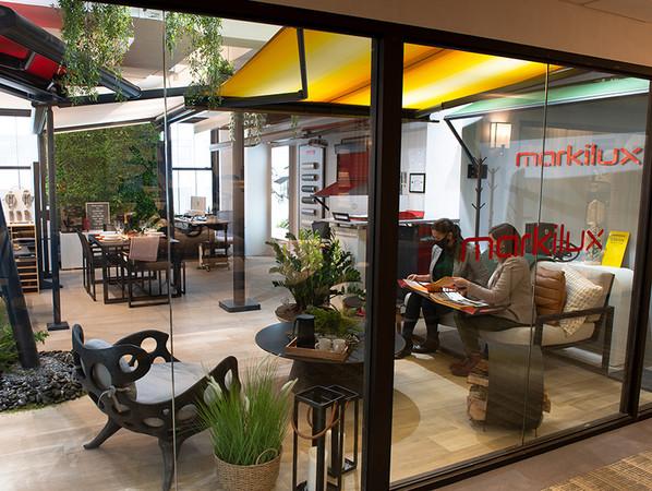 Aufgrund der derzeitigen Lage können Kunden den Schauraum aktuell leider nur nach vorheriger Terminabsprache besichtigen. Foto: © Markilux