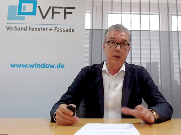 VFF-Präsident Helmut Meeth eröffnete den Politik-Dialog per Online-Übertragung aus der Eifel. Foto: © VFF