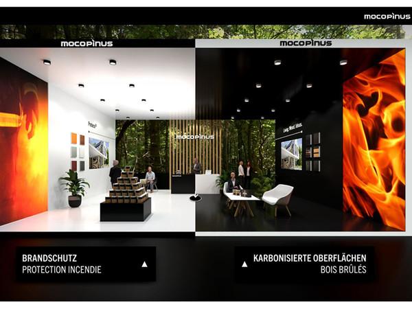 Hier werden zwei innovative Produktserien vorgestellt, die das Thema Feuer unter Kontrolle maßgebend prägen. Dazu können die Produkteigenschaften und Gestaltungmöglichkeiten erkundet werden. Foto: © Mocopinus
