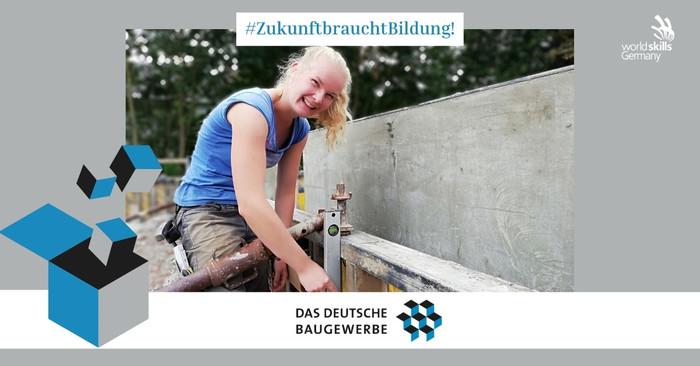 Stahlbetonbauerin Jule Janson beweist, dass sich auch junge Frauen am Bau durchsetzen können. Foto: © WorldSkills Germany/Jule Janson