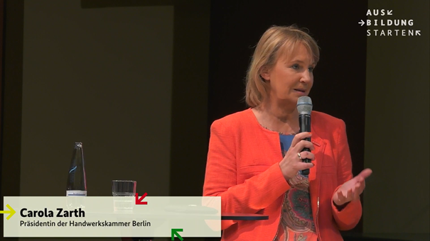 Carola Zarth, Präsidentin der HWK Berlin Foto: © Screenshot Livestream BMBF