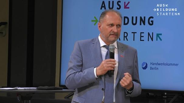 ZDH-Präsident Hans Peter Wollseifer Foto: © Screenshot Livestream BMBF