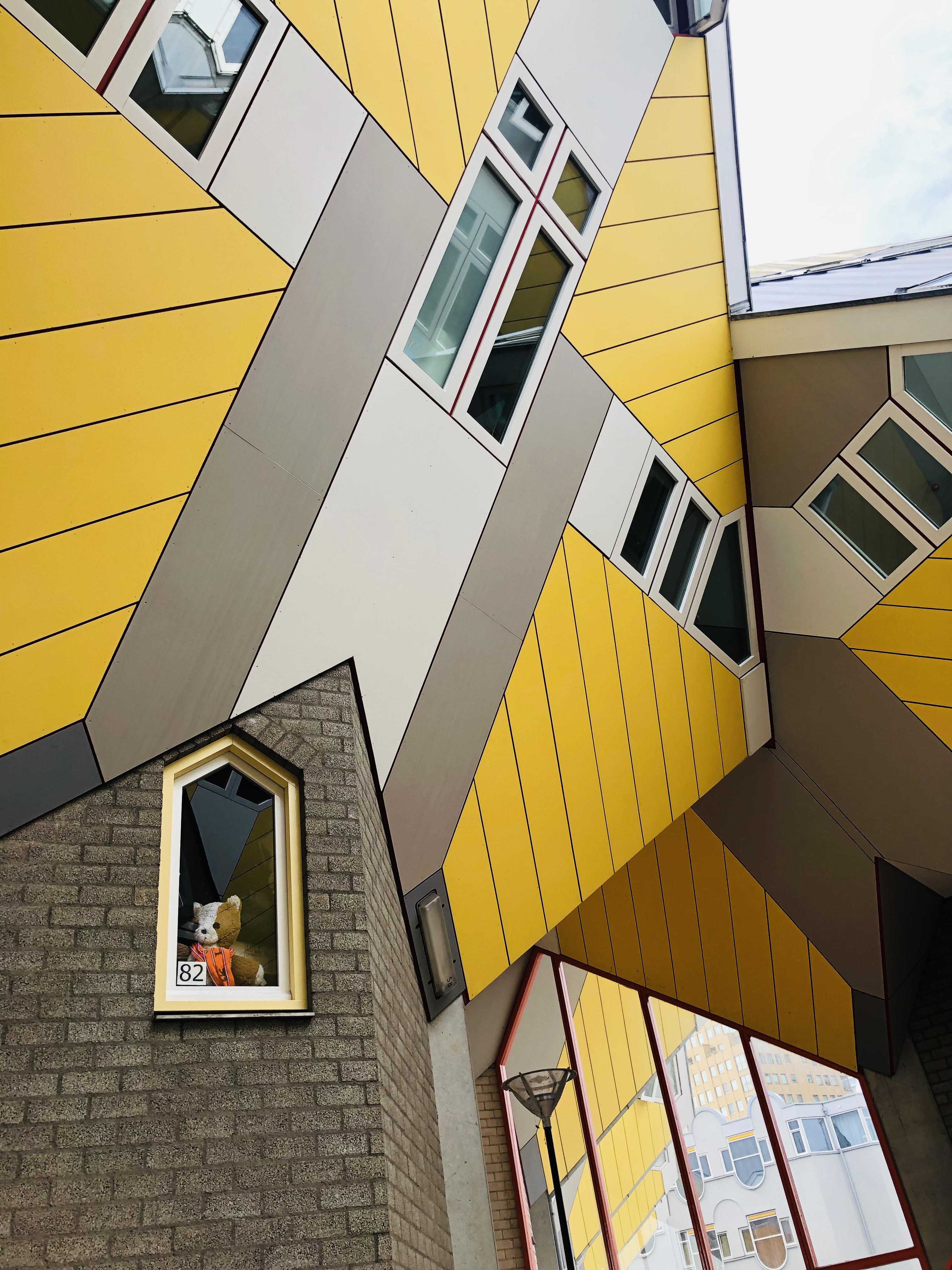 Rotterdam und die Architektur. Das Kubushaus von Stararchitekt Piet Blom überrascht mit einer ausgefallenen Schieflage. Foto: © DHB