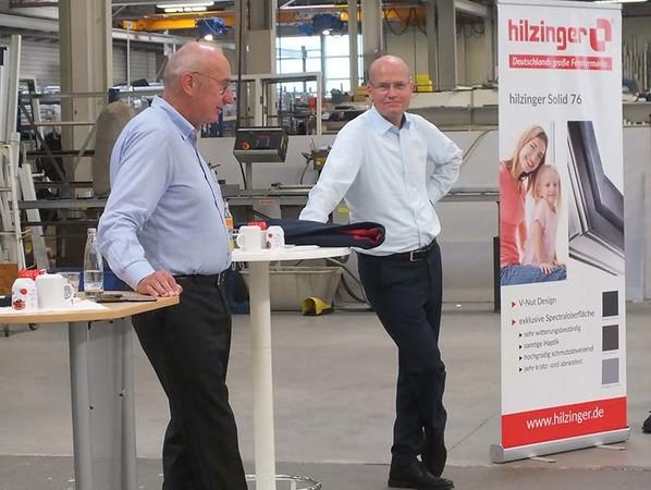 Helmut Hilzinger (links) und Ralph Brinkhaus in der Fragerunde. Foto: © hilzinger