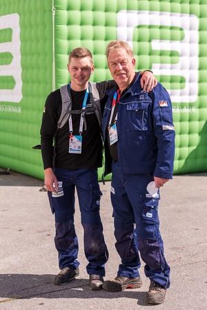 Klima- und Kältetechniker Lukas Brenne (l.) und Bundestrainer Karsten Beermann Foto: © WorldSkills Germany/Frank Erpinar