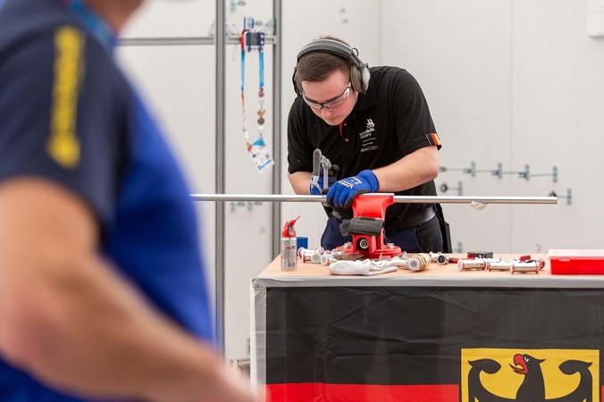 SHK-Anlagenmechaniker Simon Dorndorf Foto: © WorldSkills Germany/Frank Erpinar