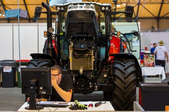 Land- und Baumaschinenmechatroniker Adrian Knapp Foto: © WorldSkills Germany/Frank Erpinar