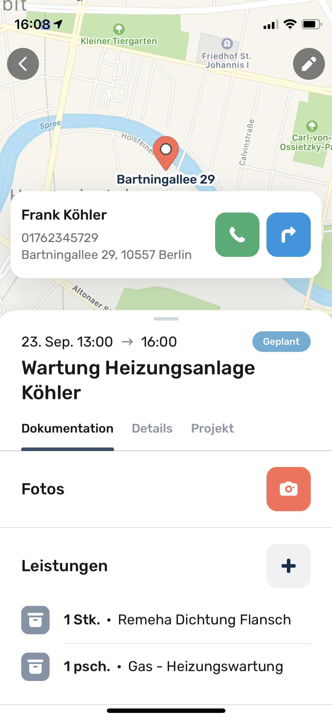 Terminplanung und Dokumentation. Foto: © ToolTime GmbH
